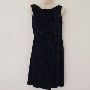 S.L. Fashions Petites Black Sleeveless Dress Sz 8P